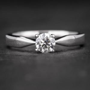 """Sužadėtuvių žiedas su Briliantu """"The Elegance 34"""""""
