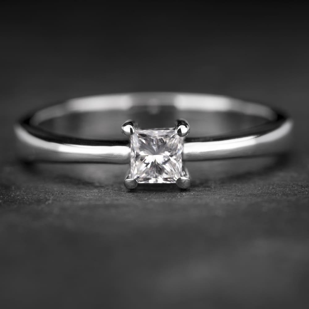 """Sužadėtuvių žiedas su Deimantu """"Princess 37"""""""