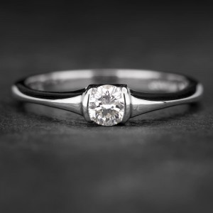 """Sužadėtuvių žiedas su Briliantu """"Sweetness 18"""""""