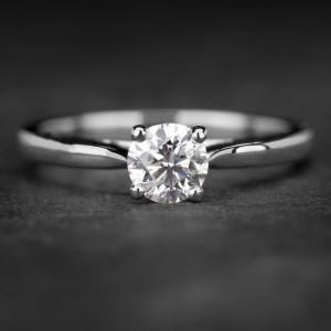 """Sužadėtuvių žiedas su Briliantu """"The Goddess 37"""""""