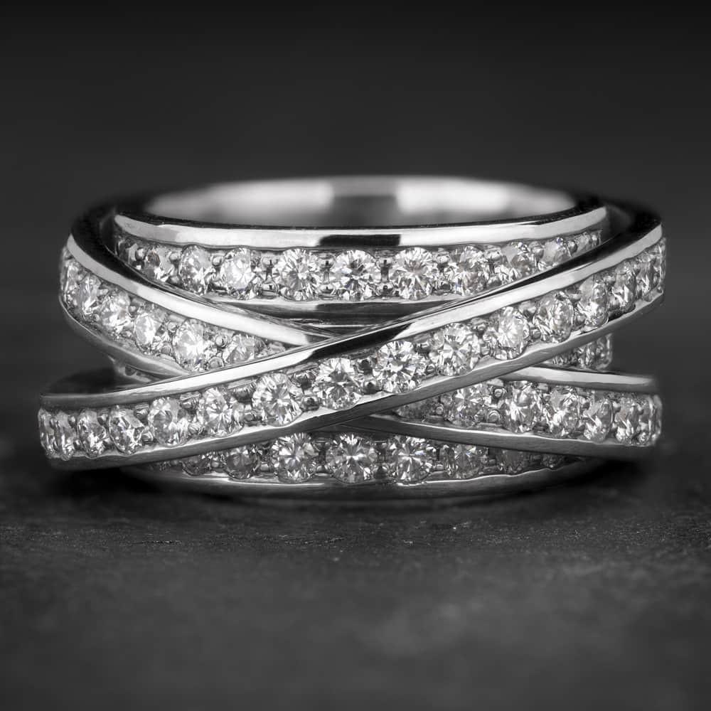 """Auksinis žiedas su Briliantais """"Aristokratė 5"""""""
