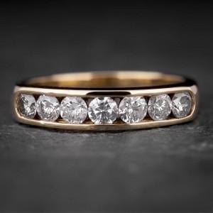 """Auksinis žiedas su Briliantais """"Deimantinė Juostelė 21"""""""