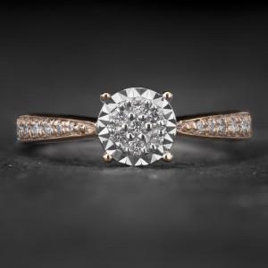 """Sužadėtuvių žiedas su Briliantais """"The Sun 14"""""""