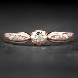 """Sužadėtuvių žiedas su Briliantais """"The Sun 7"""""""