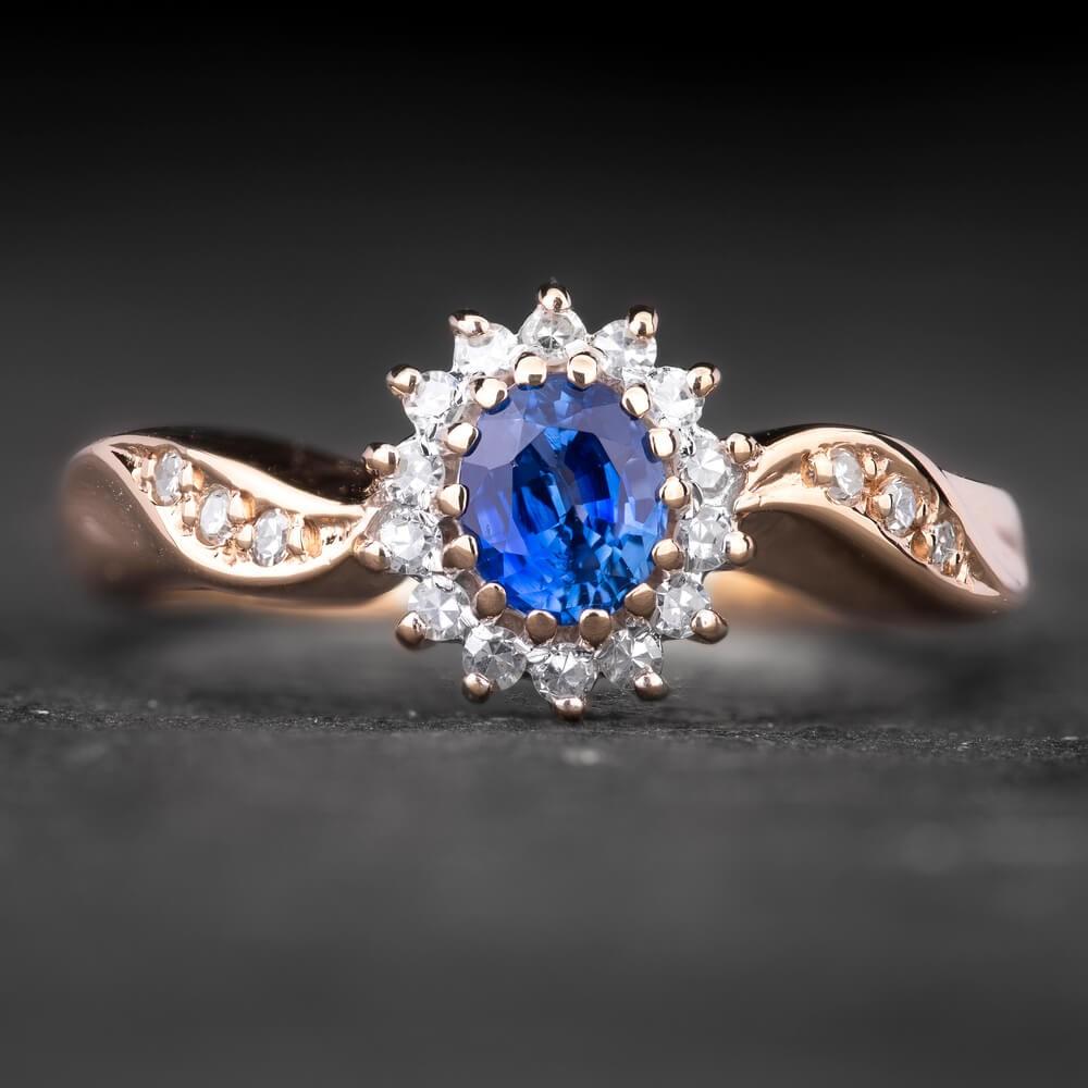 """Sužadėtuvių žiedas su Briliantais """"The Sun of Sapphire 5"""""""