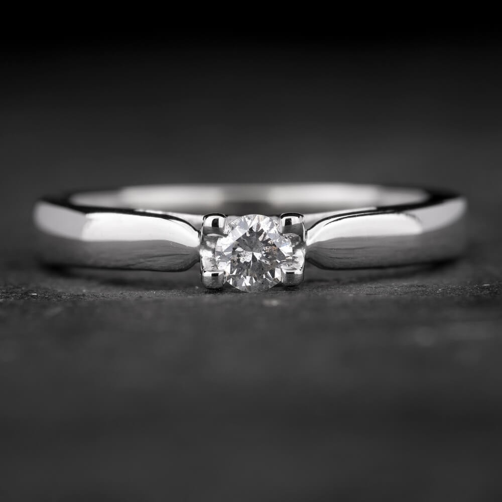 """Sužadėtuvių žiedas su Briliantu """"The Goddess 40"""""""