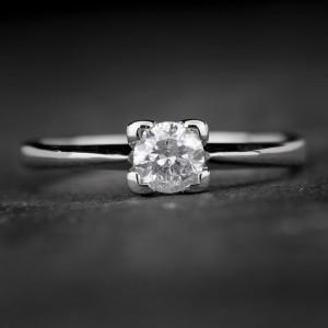 """Sužadėtuvių žiedas su Briliantu """"The Diamond 22"""""""