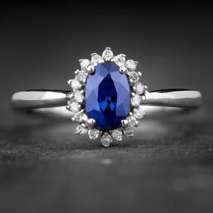"""Auksinis žiedas su Brangakmeniais """"The Sun of Sapphire 6"""""""