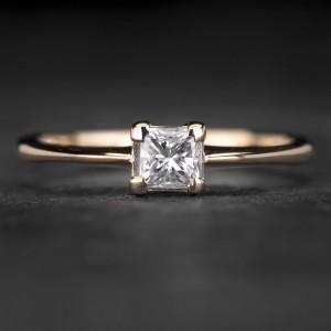 """Auksinis žiedas su Deimantu """"Princess 41"""""""