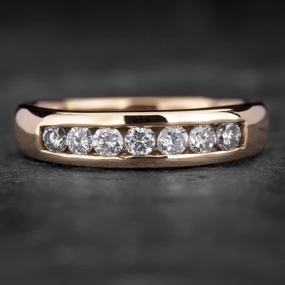 """Auksinis žiedas su Briliantais """"Deimantinė Juostelė 9"""""""