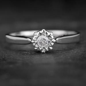 """Sužadėtuvių žiedas su Briliantu """"The Sun 27"""""""