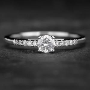 """Sužadėtuvių žiedas su Briliantais """"The Elegance 41"""""""