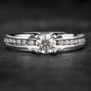 """Auksinis žiedas su Briliantais """"The Elegance 43"""""""
