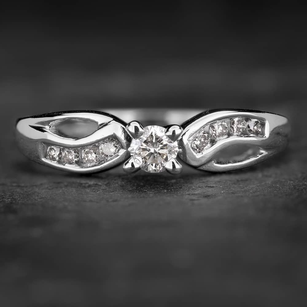 """Sužadėtuvių žiedas su Briliantais """"Whirlwind 16"""""""
