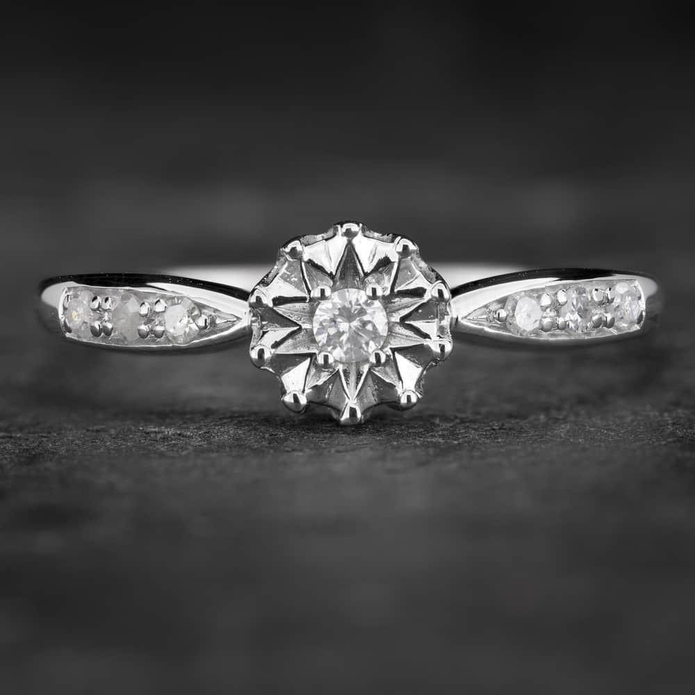 """Sužadėtuvių žiedas su Deimantais """"The Sun 31"""""""