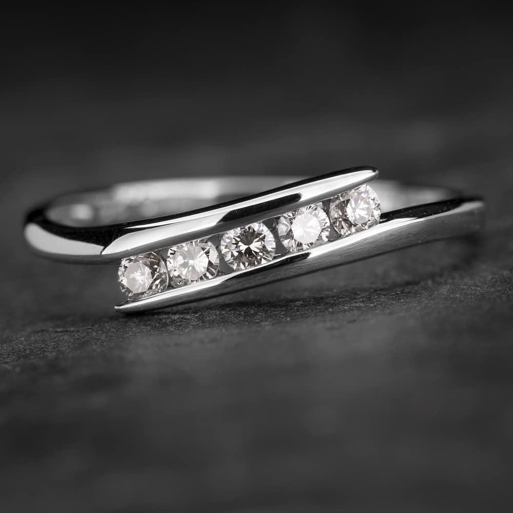 """Auksinis žiedas su Briliantais """"Fortune 14"""""""