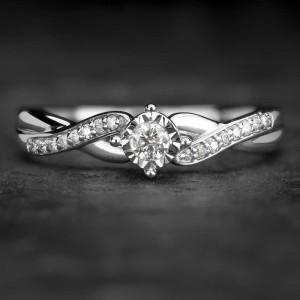 """Sužadėtuvių žiedas su Briliantais """"Fortune 15"""""""