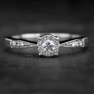 """Sužadėtuvių žiedas su Briliantais """"The Elegance 46"""""""