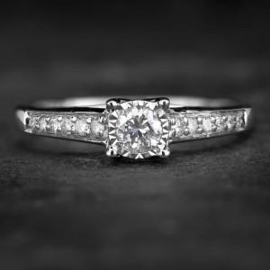 """Sužadėtuvių žiedas su Briliantais """"The Elegance 47"""""""