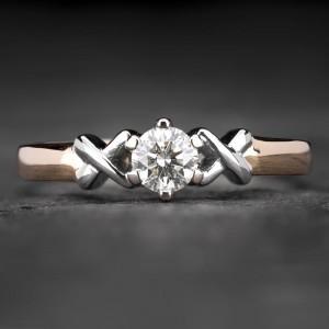 "Auksinis žiedas su Briliantu ""Fortune 20"""
