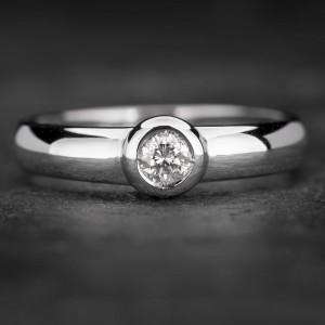 """Sužadėtuvių žiedas su Briliantu """"Sweetness 22"""""""