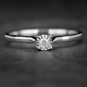 """Sužadėtuvių žiedas su Briliantu """"The Sun 34"""""""