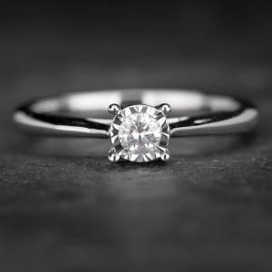 """Sužadėtuvių žiedas su Briliantu """"The Sun 35"""""""