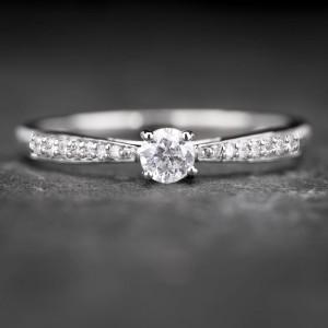 """Sužadėtuvių žiedas su Briliantu """"The Elegance 48"""""""