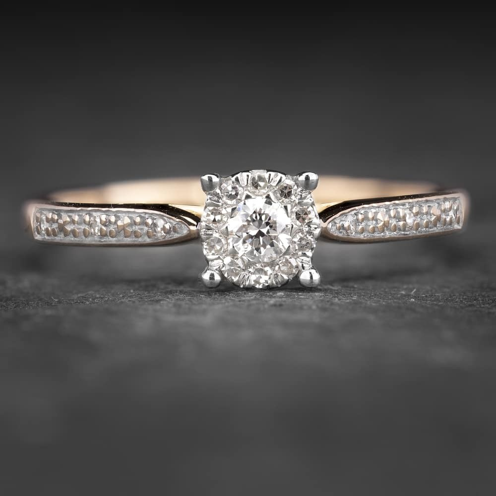 """Sužadėtuvių žiedas su Briliantais """"Shiny Bunch 21"""""""