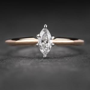 """Sužadėtuvių žiedas su Deimantu """"Marquise 6"""""""