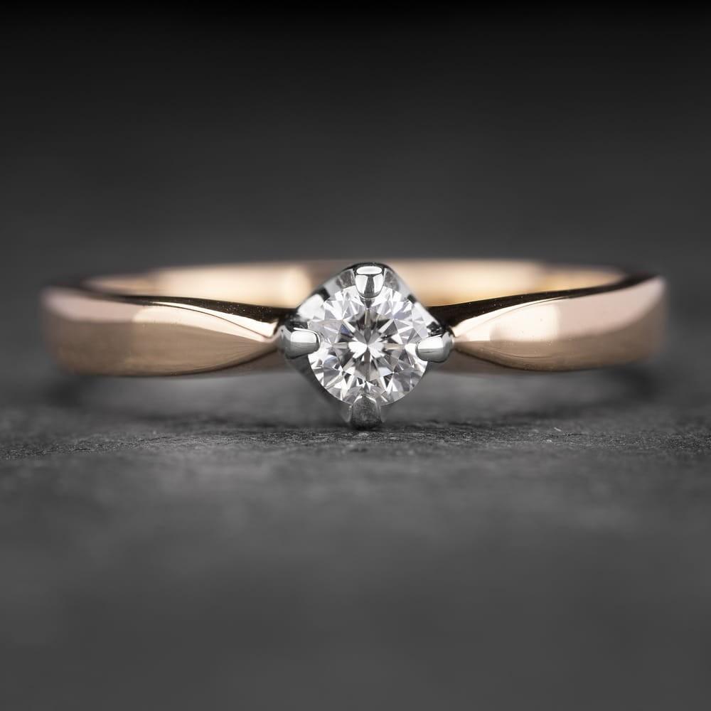 """Sužadėtuvių žiedas su Deimantu """"The Diamond 26"""""""