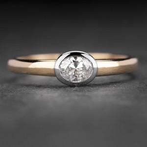 """Sužadėtuvių žiedas su Deimantu """"The Diamond 28"""""""
