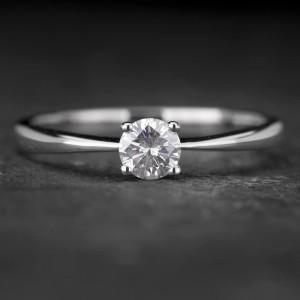 """Sužadėtuvių žiedas su Briliantu """"The Diamond 30"""""""