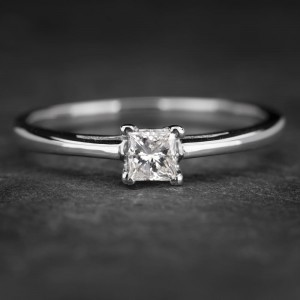 """Sužadėtuvių žiedas su Deimantu """"Princess 44"""""""