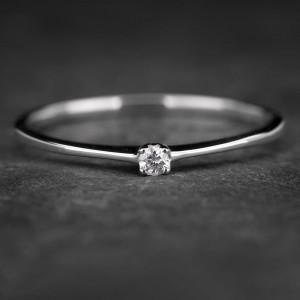 """Sužadėtuvių žiedas su Briliantu """"The Diamond 31"""""""