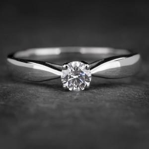 "Auksinis žiedas su Briliantu ""The Elegance 49"""