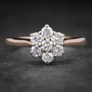 """Auksinis žiedas su Briliantais """"Shiny Flower 13"""""""