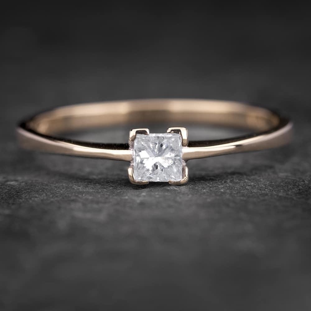 """Sužadėtuvių žiedas su Deimantu """"Princess 47"""""""