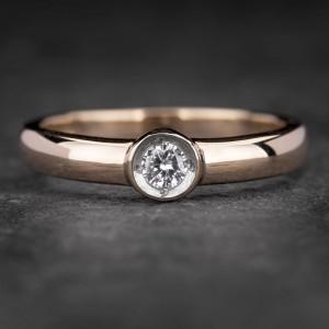 """Sužadėtuvių žiedas su Briliantu """"Sweetness 26"""""""