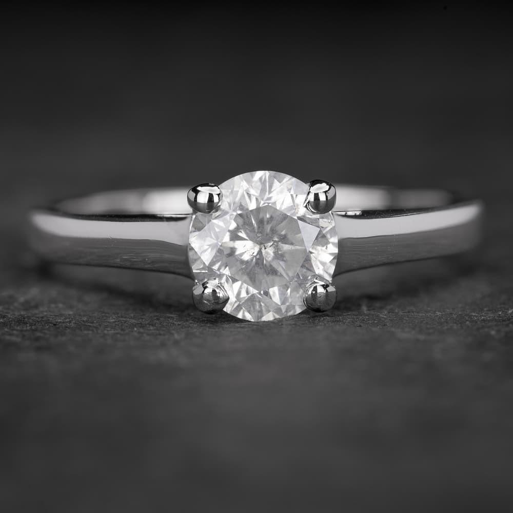 """Sužadėtuvių žiedas su Briliantu """"The Goddess 42"""""""