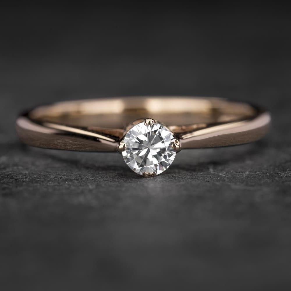 """Sužadėtuvių žiedas su Briliantu """"Kunigaikštytė 12"""""""