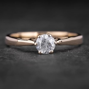 """Sužadėtuvių žiedas su Briliantu """"Kunigaikštytė 14"""""""