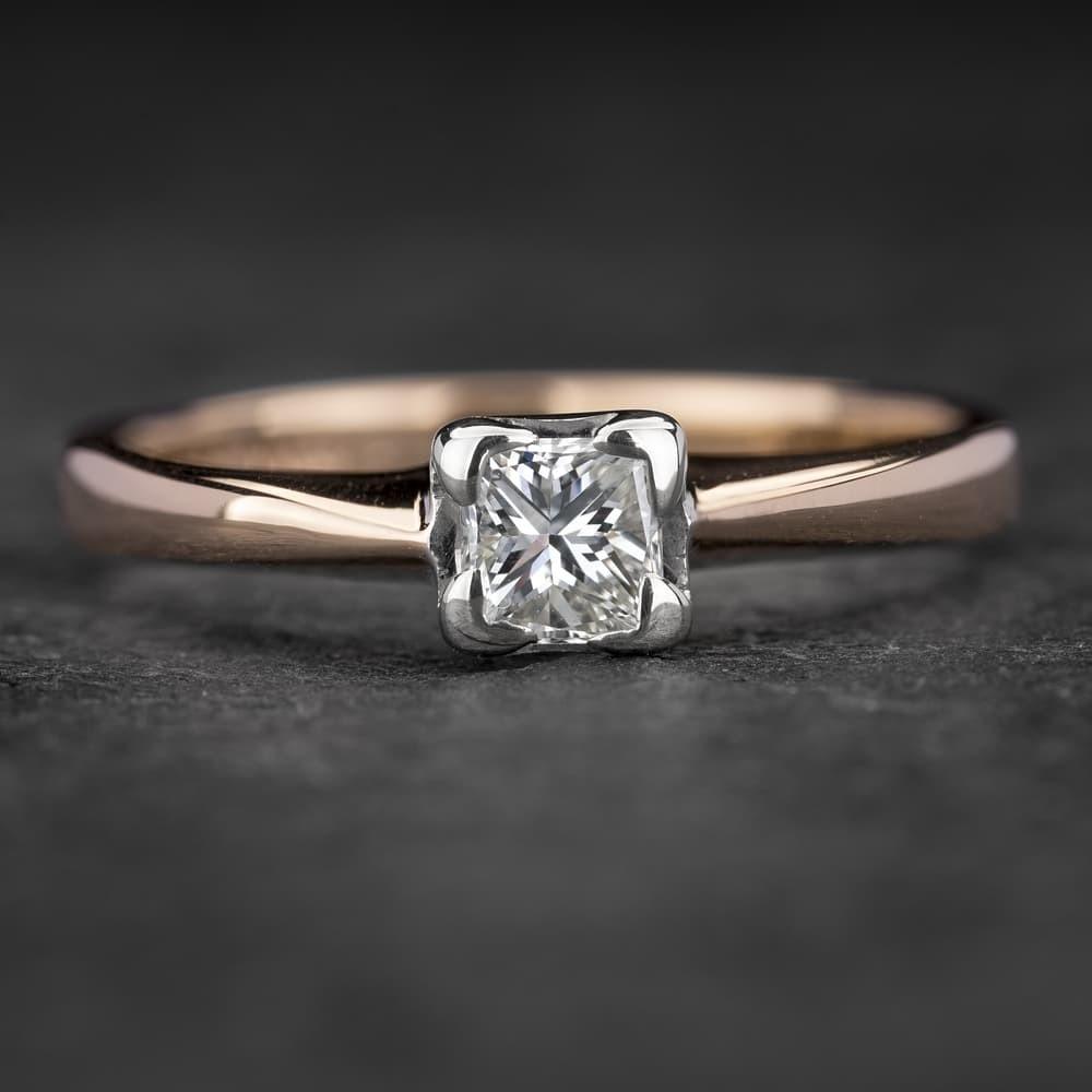 """Sužadėtuvių žiedas su Deimantu """"Princess 22"""""""