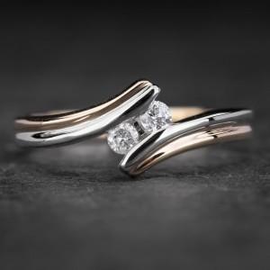 """Auksinis žiedas su Briliantais """"Fortune 22"""""""