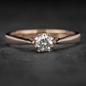 """Sužadėtuvių žiedas su Briliantu """"Kunigaikštytė 15"""""""
