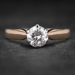 """Sužadėtuvių žiedas su Briliantu """"Kunigaikštytė 16"""""""