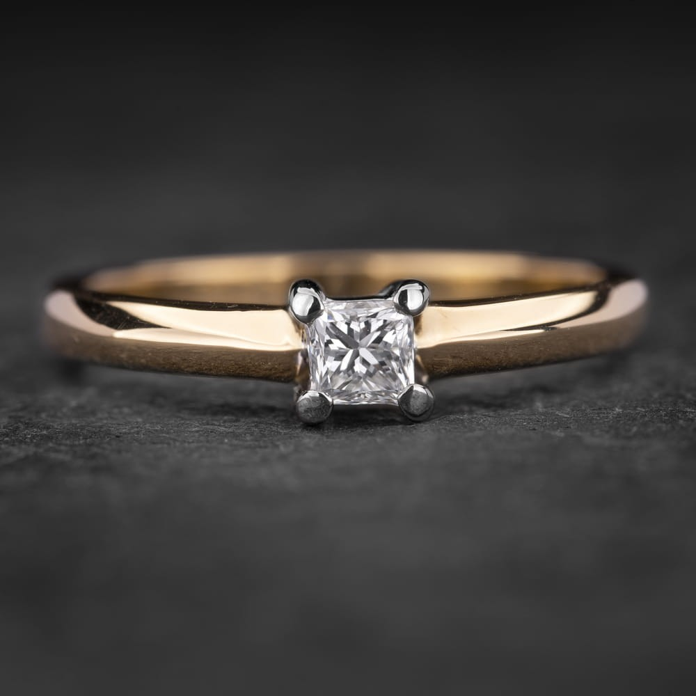 """Sužadėtuvių žiedas su Deimantu """"Princess 52"""""""