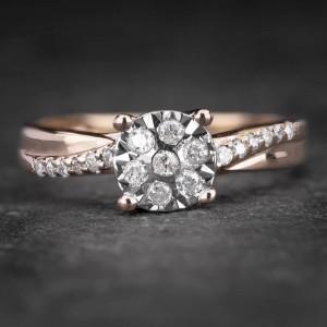 """Sužadėtuvių žiedas su Briliantais """"Shiny Bunch 22"""""""