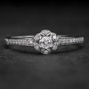 """Sužadėtuvių žiedas su Briliantais """"Shiny Flower 14"""""""