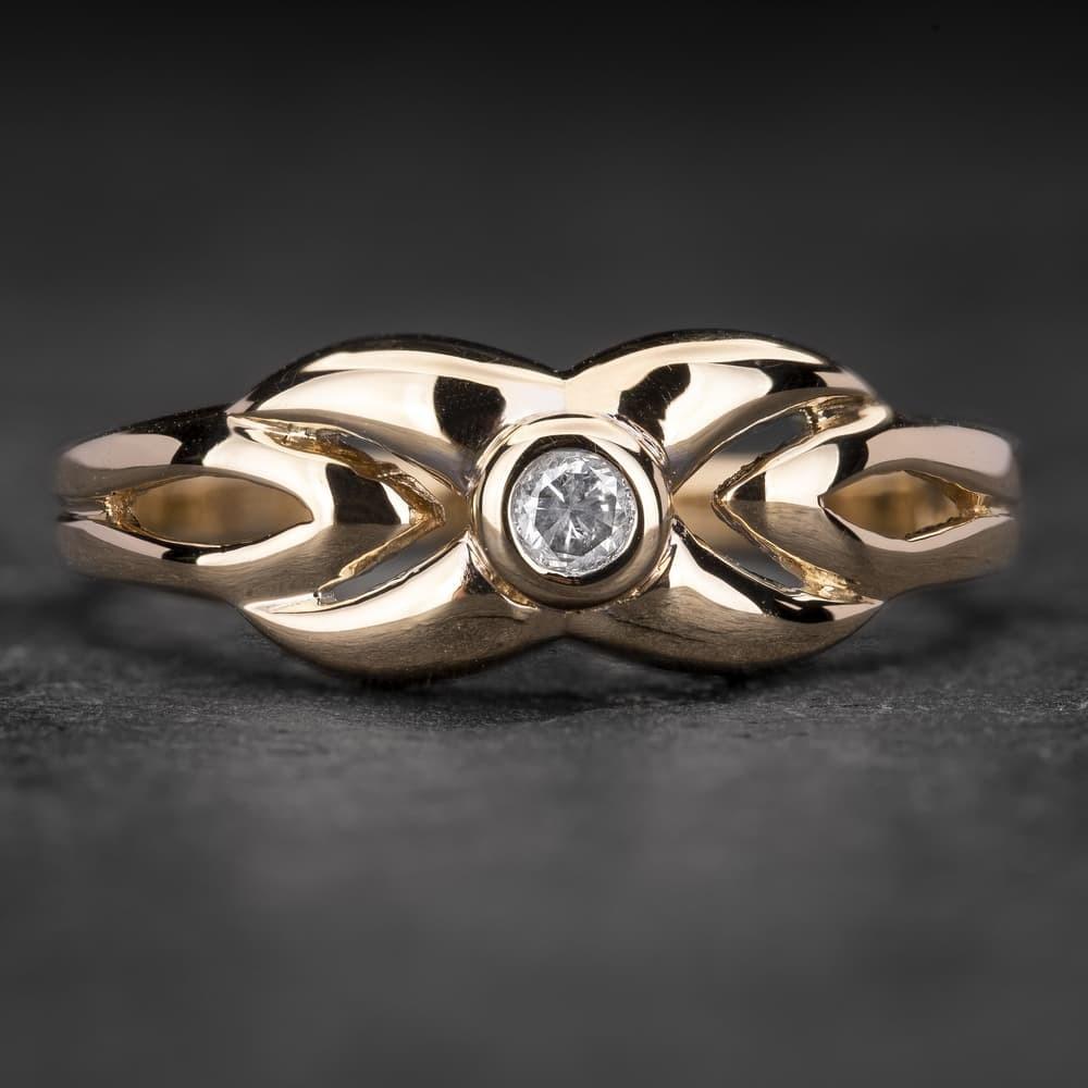"Auksinis žiedas su Briliantu ""Fortune 24"""